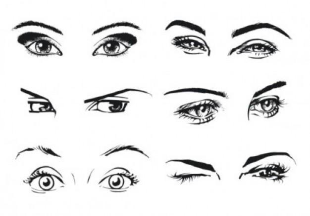 ogen-portretteren-wimpers-vector_270-161767