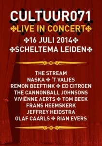 flyer Cultuur071 live