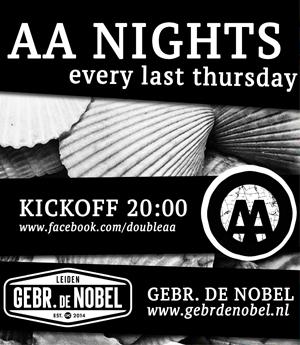 AA Nights - every last Thursday