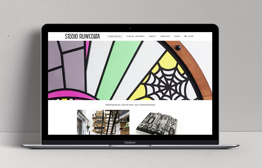 Website van Studio Ruwedata - Thijs Kelder