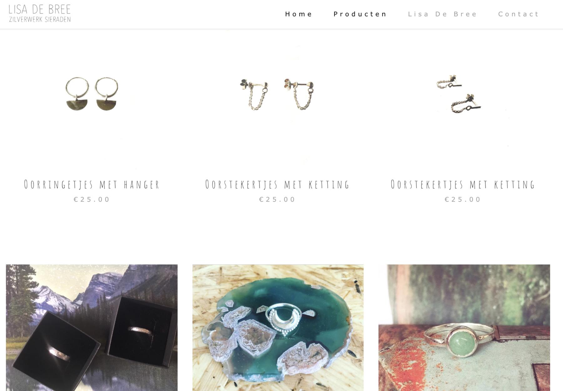 Zilverwerk Sieraden - Lisa de Bree